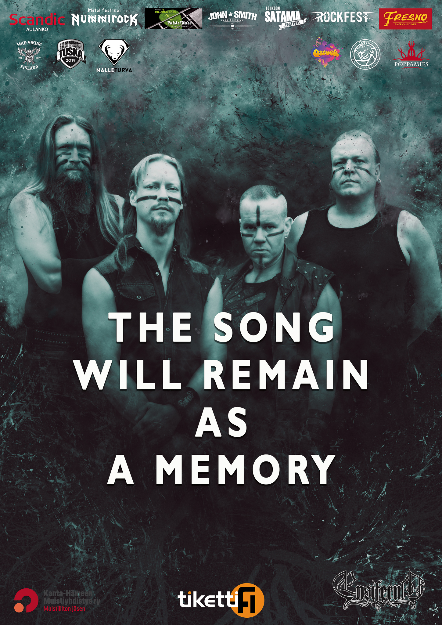 Ensiferum yhtyeen juliste kuva - the song will remain as a memory